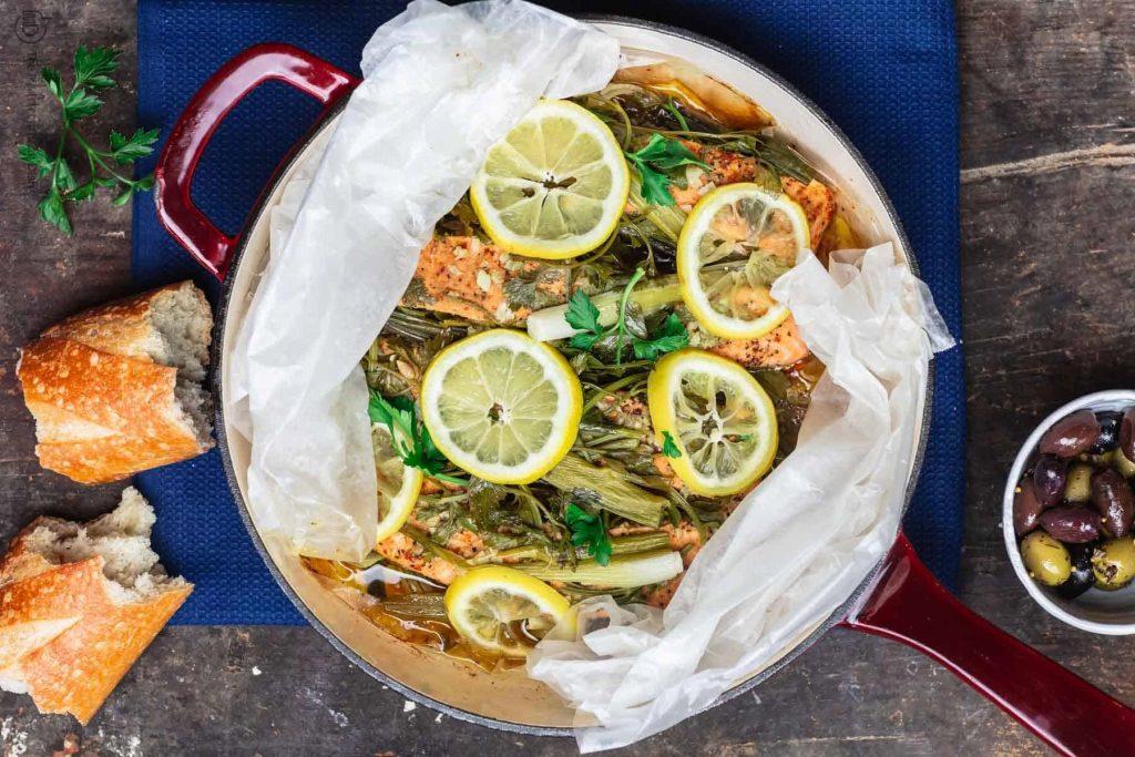 Фото рецепта - Лосось на пару с лимоном и травами - шаг 9