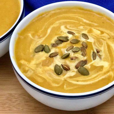 Постный тыквенный суп-пюре - рецепт с фото