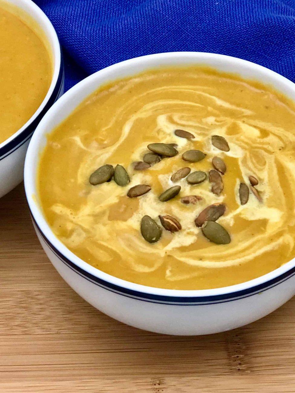 Постный тыквенный суп-пюре