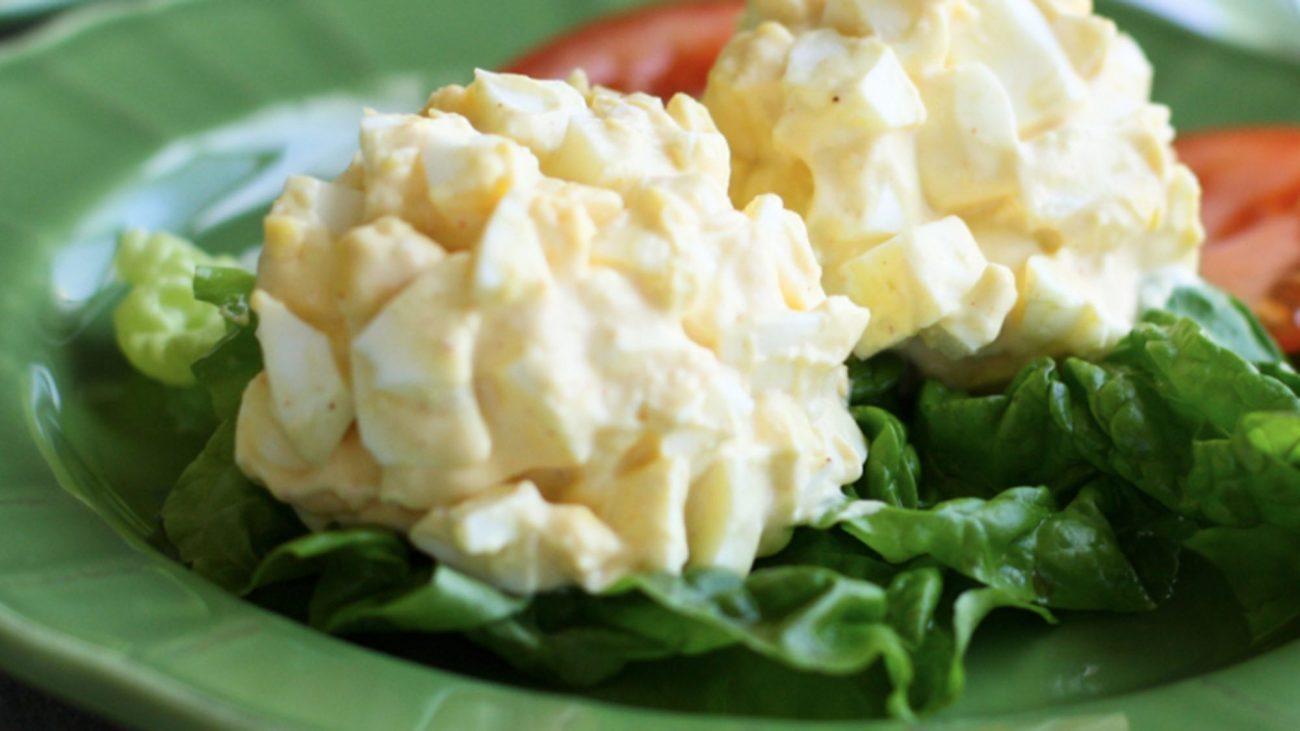 Простой яичный салат