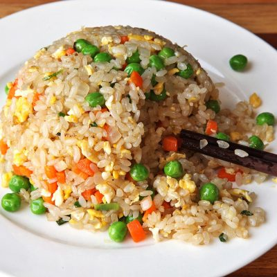 Рис с овощами и яйцом (гарнир) - рецепт с фото