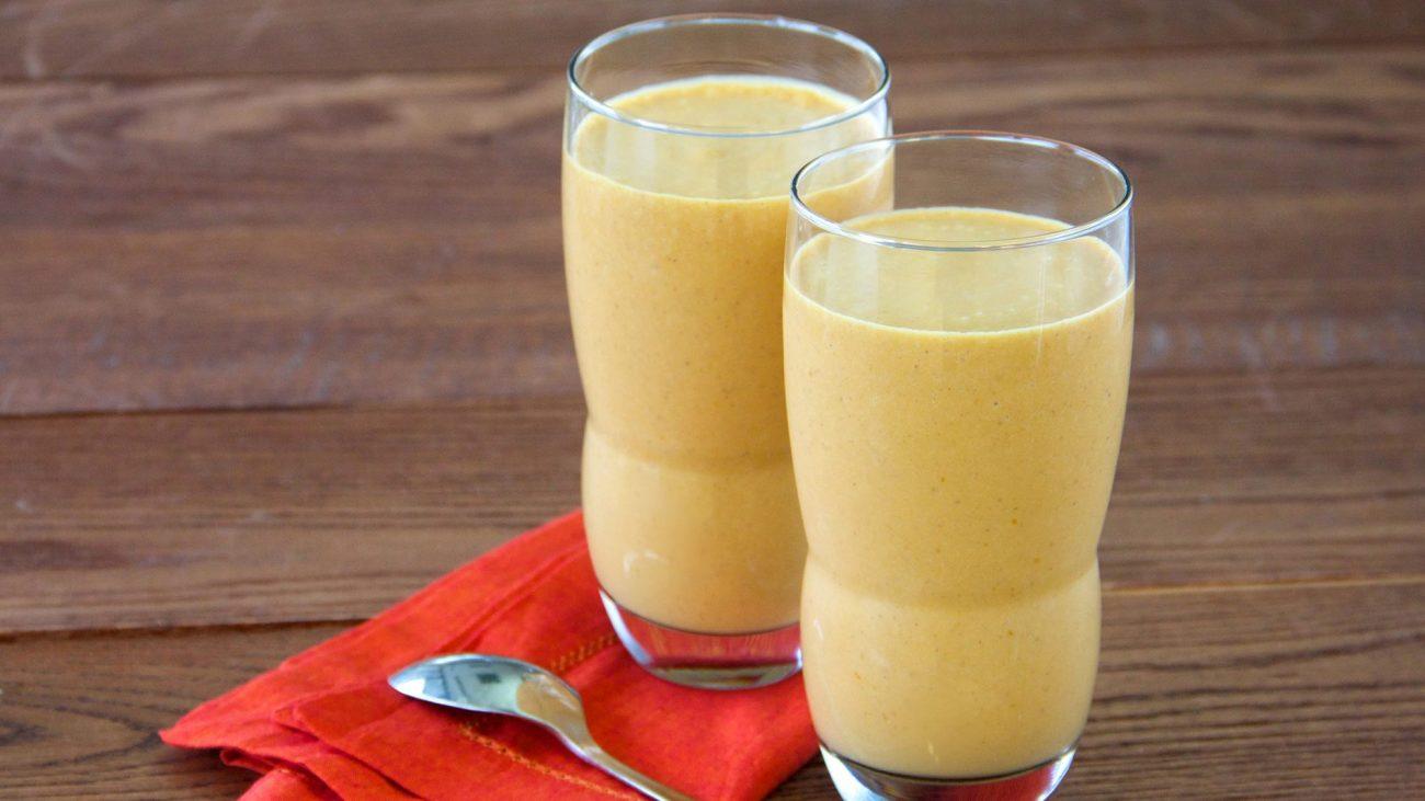Тыквенный смузи на кокосовом молоке