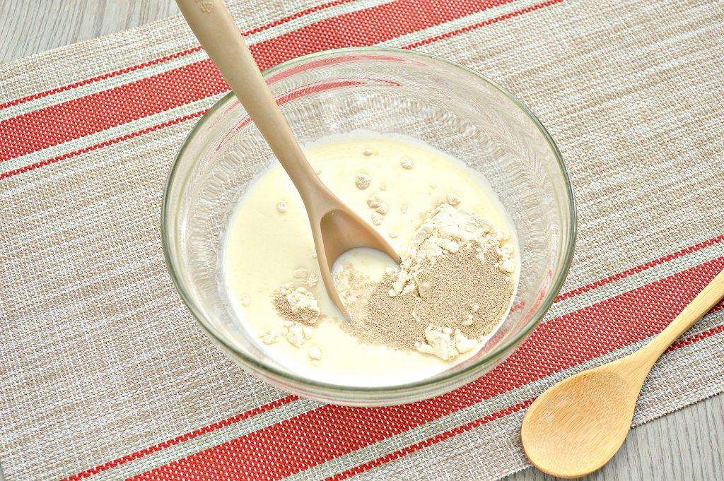 Фото рецепта - Тесто как пух на молоке и дрожжах - шаг 2