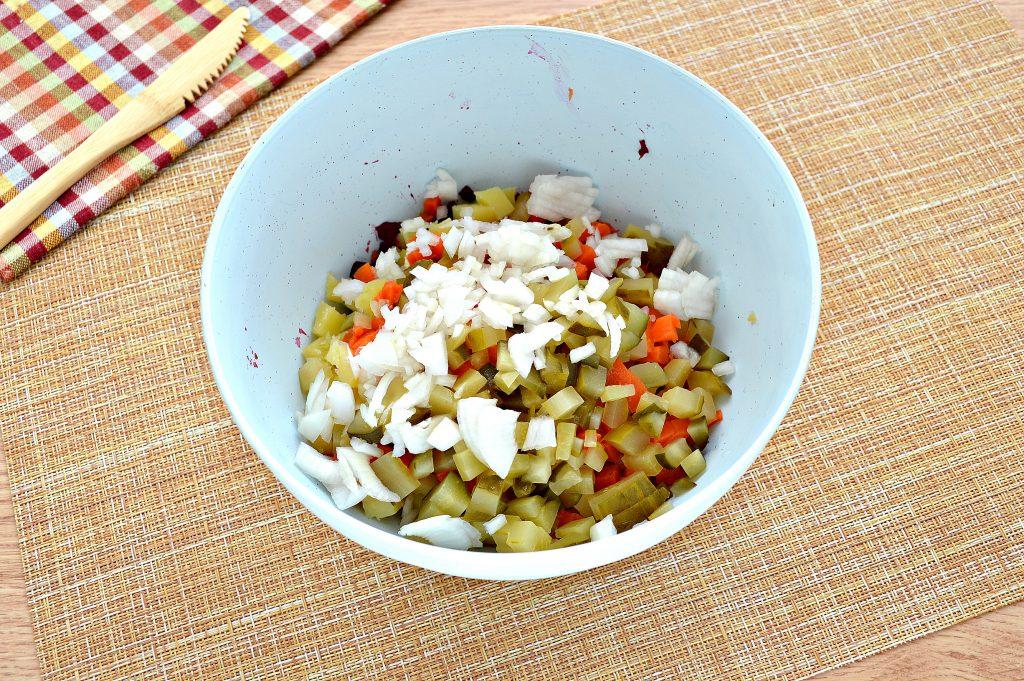 Фото рецепта - Винегрет с морковкой по-корейски - шаг 4
