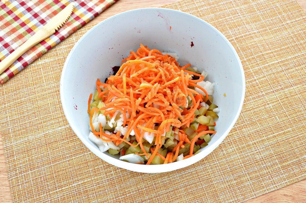 Фото рецепта - Винегрет с морковкой по-корейски - шаг 5