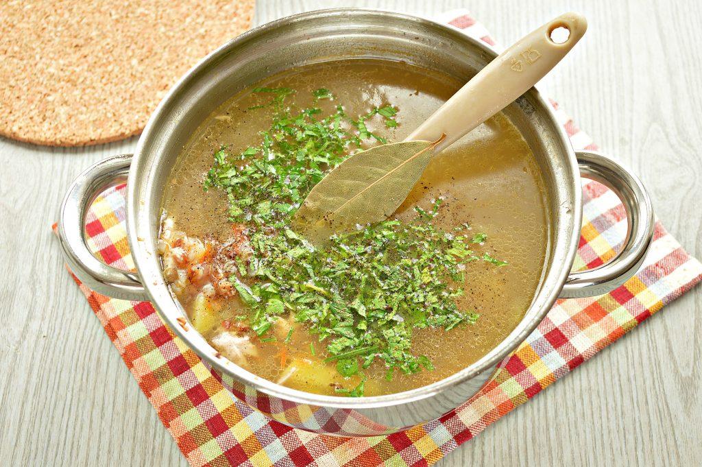 Фото рецепта - Суп с гречкой и цыпленком - шаг 7
