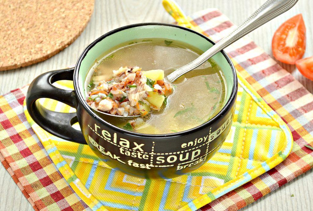 Фото рецепта - Суп с гречкой и цыпленком - шаг 8