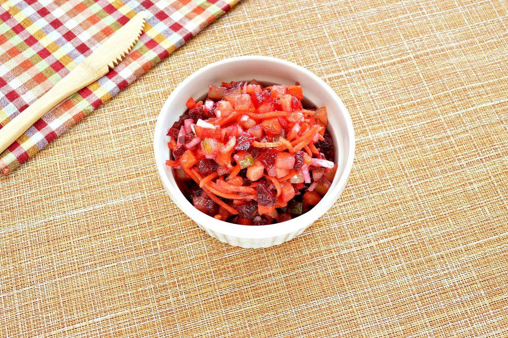 Фото рецепта - Винегрет с морковкой по-корейски - шаг 8