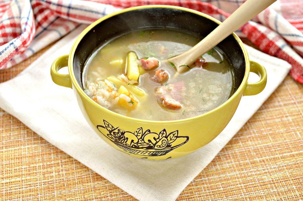 Фото рецепта - Рисовый суп с копченостями - шаг 8