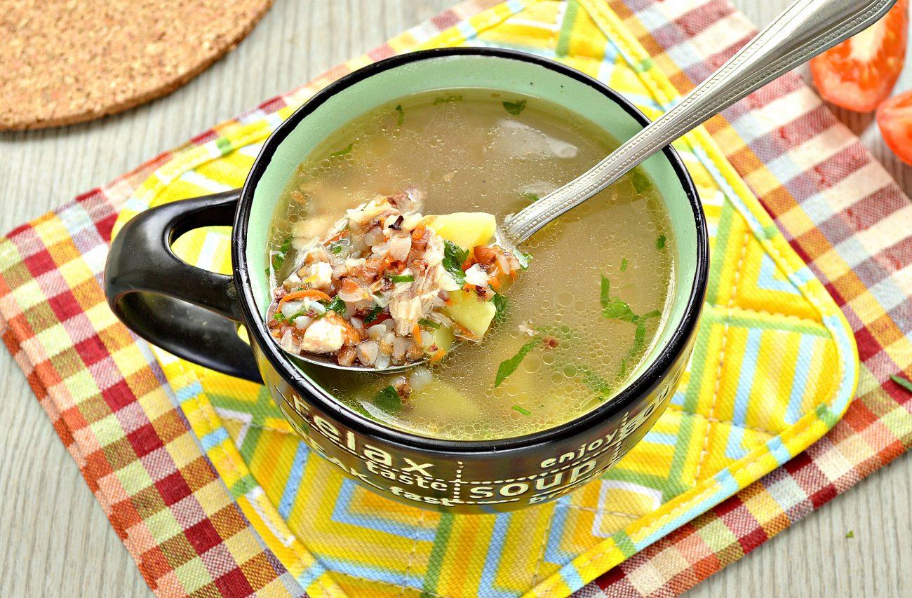 Суп с гречкой и цыпленком