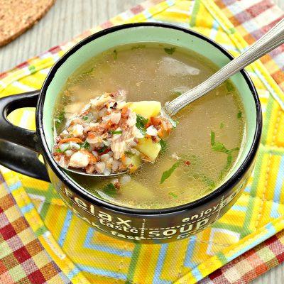 Суп с гречкой и цыпленком - рецепт с фото