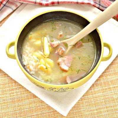 Рисовый суп с копченостями - рецепт с фото