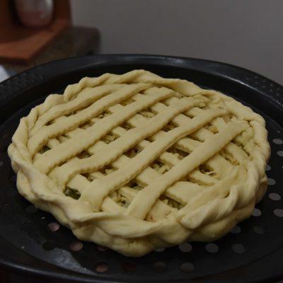 Фото рецепта - Пирог с капустой, сыром и картошкой - шаг 7