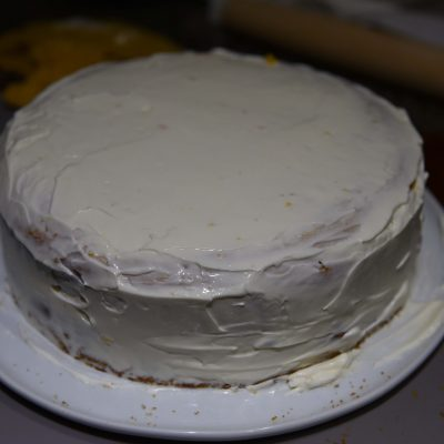 Фото рецепта - Тыквенный торт с грецкими орехами и сырным кремом - шаг 7