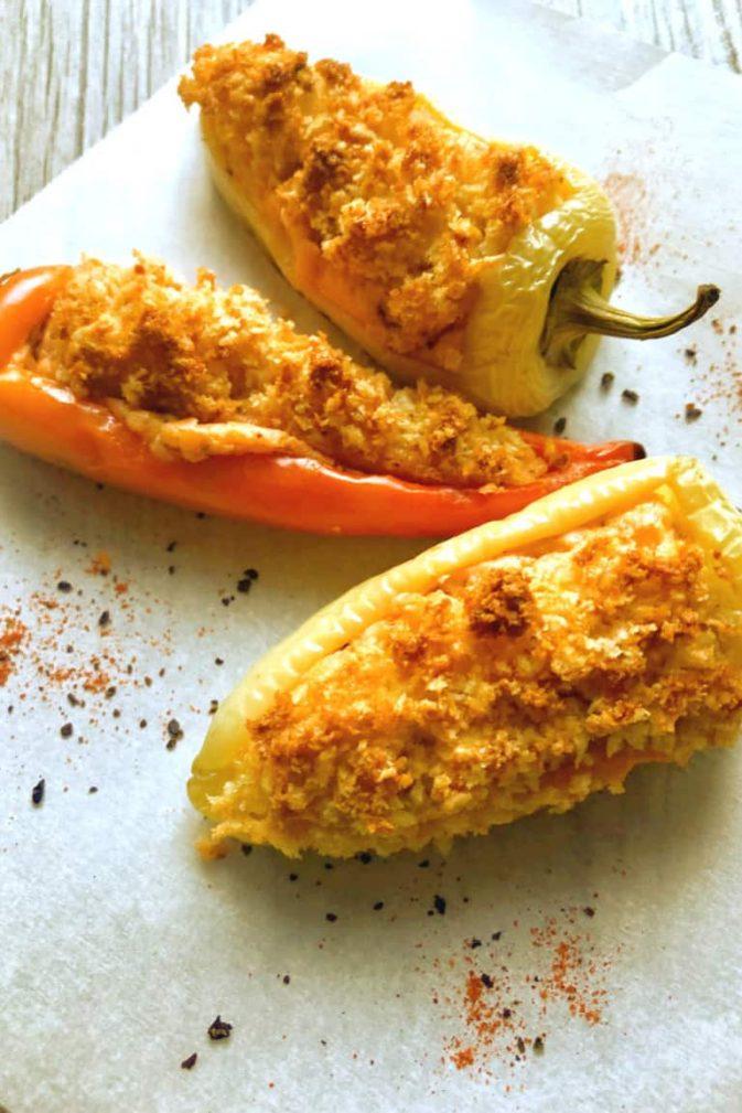Фото рецепта - Фаршированный запеченный перец сыром - шаг 7