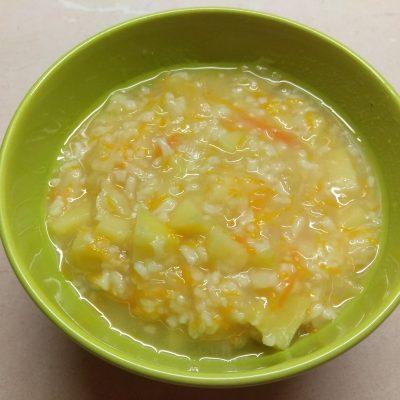 Постный суп с кислой капустой и рисом - рецепт с фото