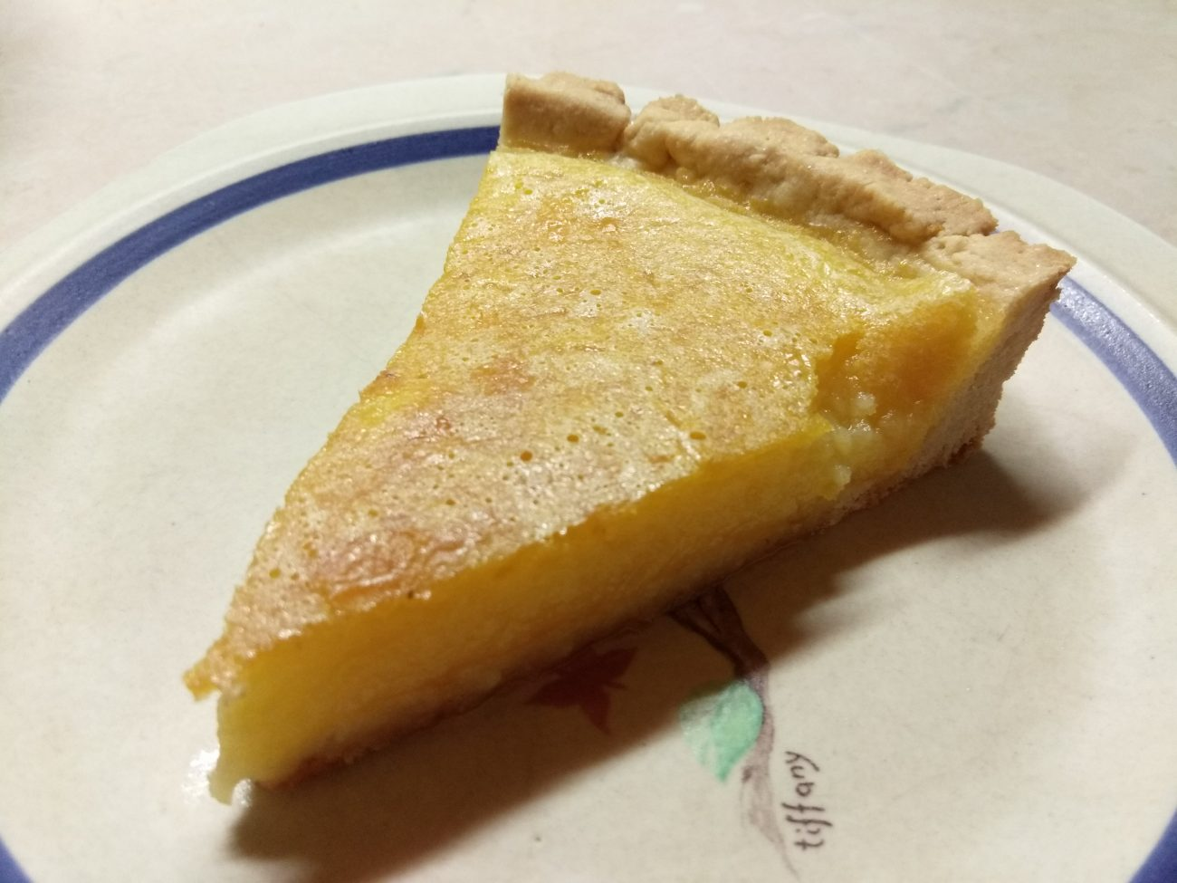 Лимонный открытый пирог