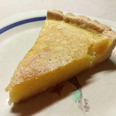 Лимонный открытый пирог - рецепт с фото