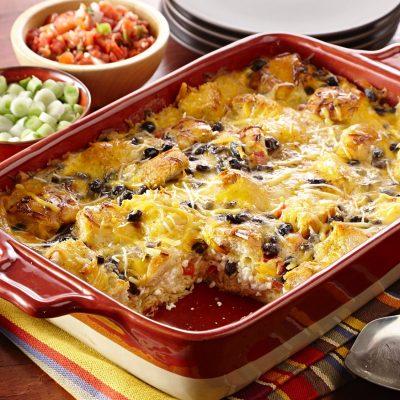 Яичница-кусочница с сыром и фасолью - рецепт с фото