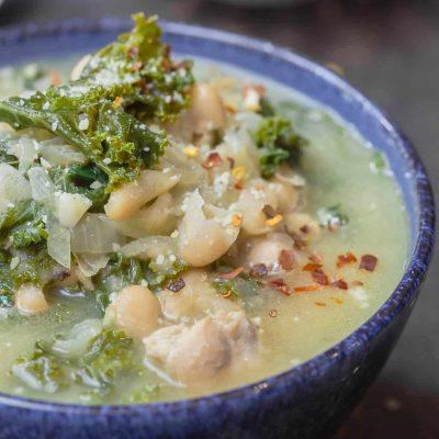 Куриный суп с белой фасолью и капустой - рецепт с фото