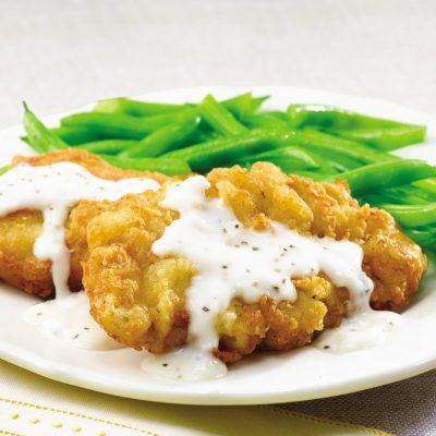 Отбивная из куриного филе в панировке - рецепт с фото
