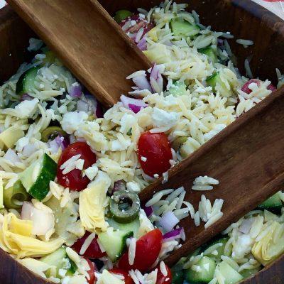 Овощной салат с макаронами Орзо - рецепт с фото