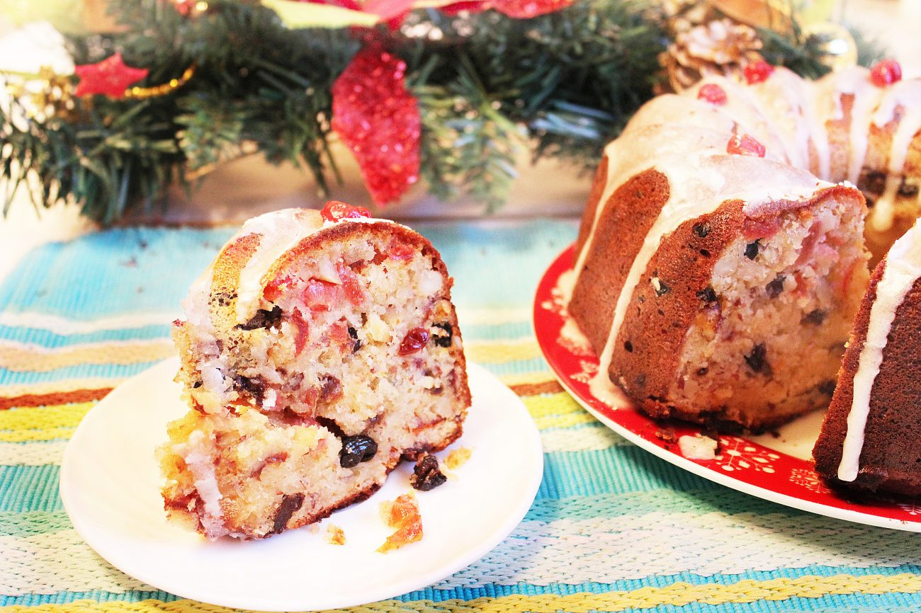 Рождественский кекс на твороге с орехами и сухофруктами