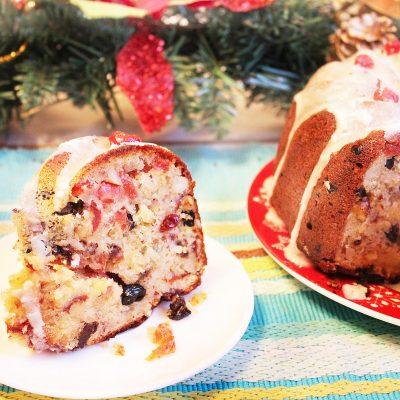 Рождественский кекс на твороге с орехами и сухофруктами - рецепт с фото