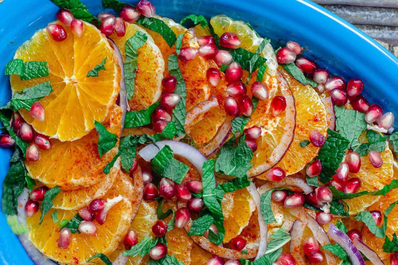 Средиземноморский апельсиновый салат