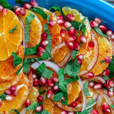 Средиземноморский апельсиновый салат - рецепт с фото