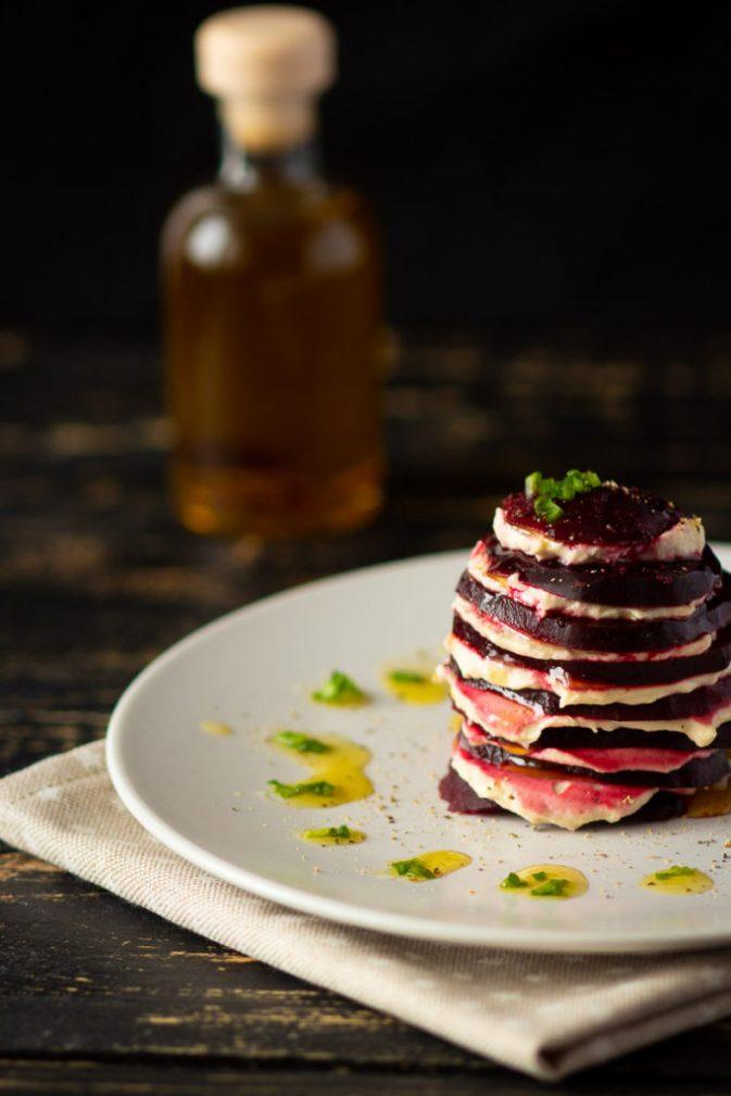 Фото рецепта - Запеченная свекла с чесночной сырно-ореховой пастой - шаг 4