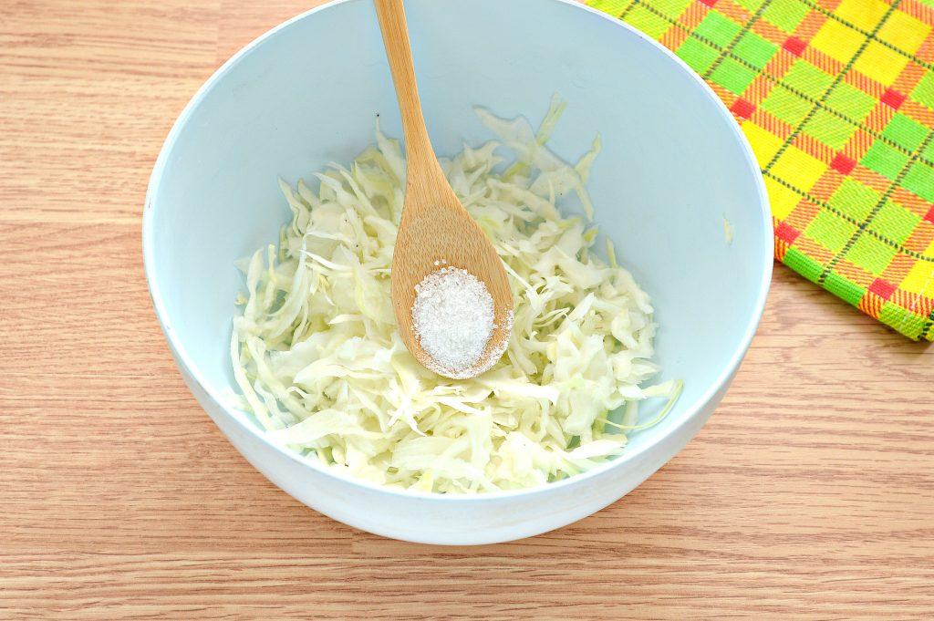 Фото рецепта - Постный салат с вареной свеклой и зеленым горошком - шаг 2