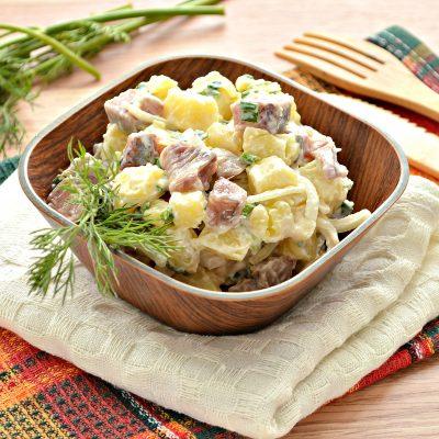 Салат из картофеля и сельди - рецепт с фото