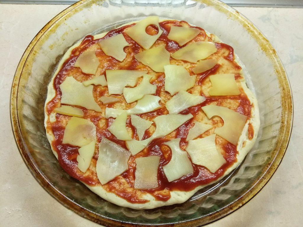 Фото рецепта - Пицца с курицей и тыквой - шаг 4