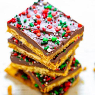 Рождественское печенье из крекеров - рецепт с фото