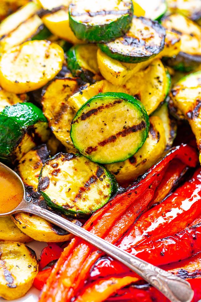 Фото рецепта - Запеченные овощи на гриле в медово-горчичной заправке - шаг 5