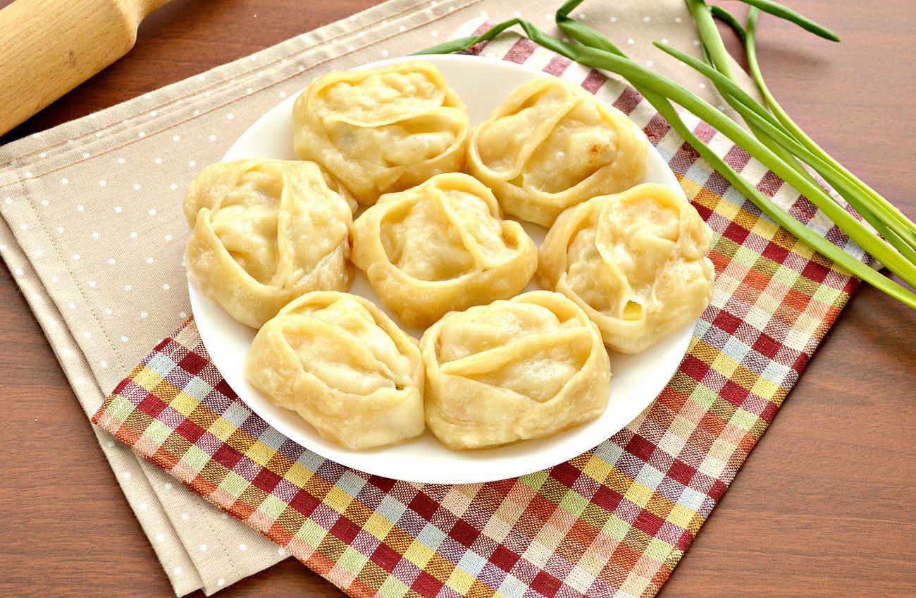 Постные манты с картошкой и кабачком