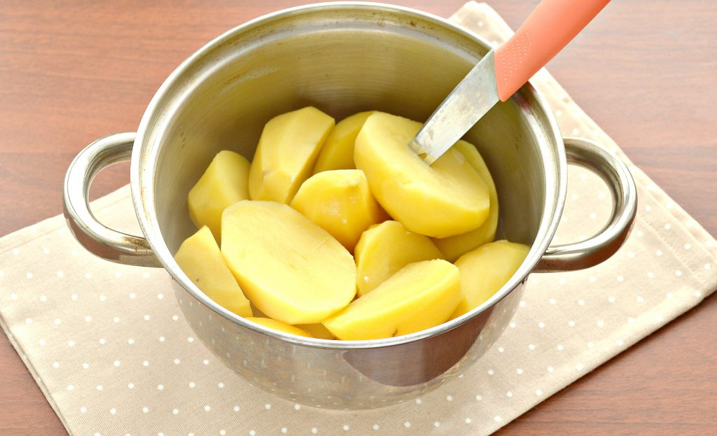 Фото рецепта - Картофельное пюре с чесноком в блендере - шаг 3