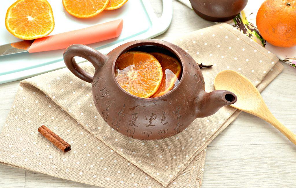 Фото рецепта - Мандариновый напиток с гвоздикой и корицей - шаг 4