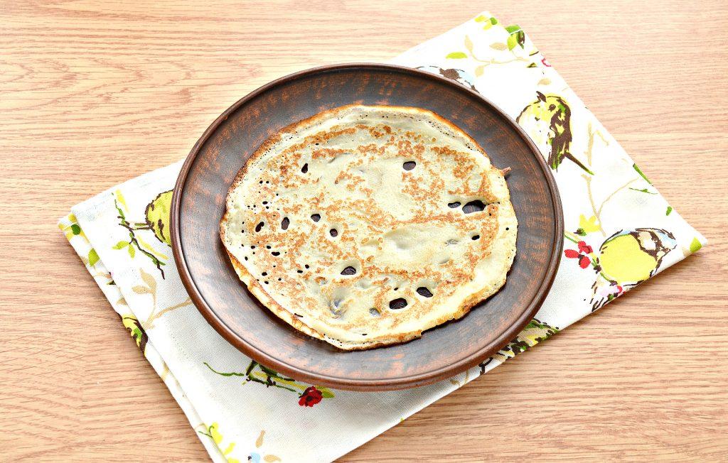 Фото рецепта - Налистники с сыром (блины на молоке и воде) - шаг 4