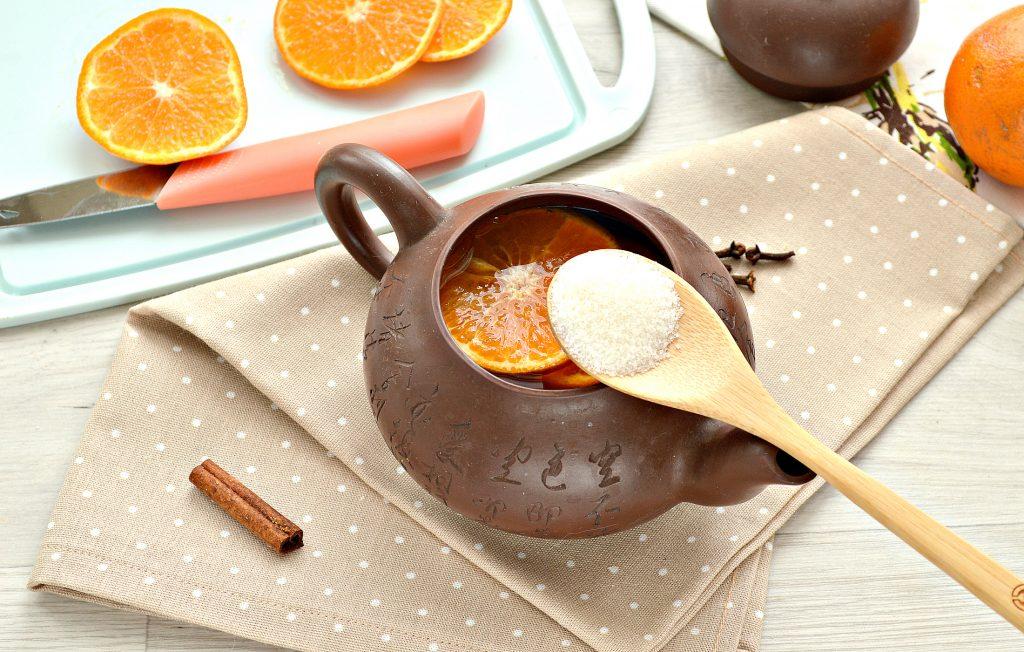 Фото рецепта - Мандариновый напиток с гвоздикой и корицей - шаг 5