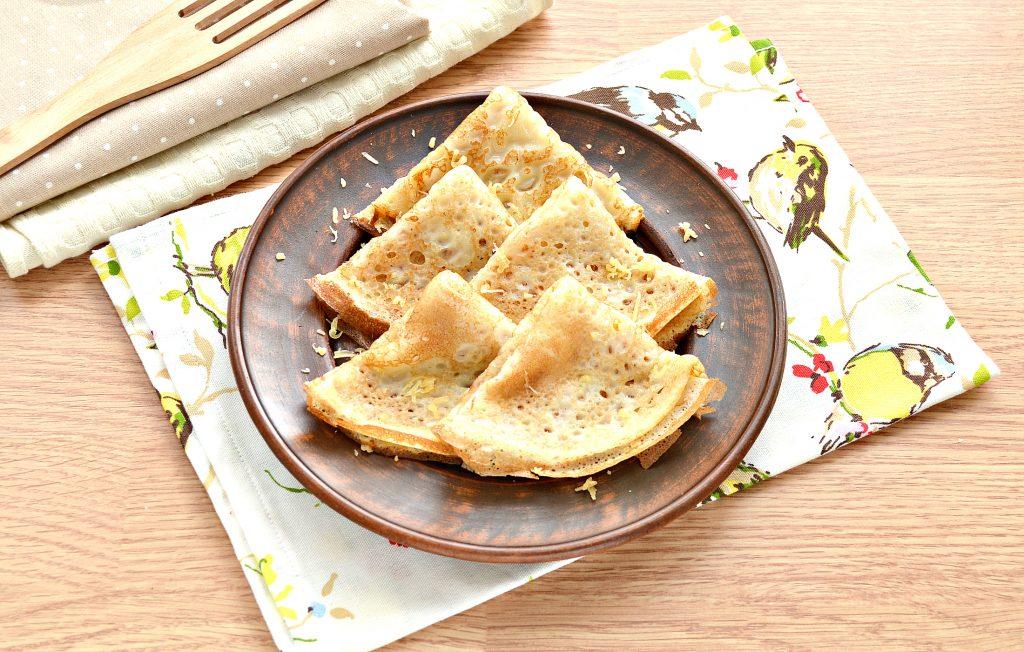 Фото рецепта - Налистники с сыром (блины на молоке и воде) - шаг 7