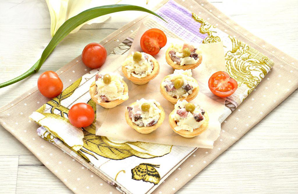 Фото рецепта - Тарталетки с соленой сельдью и картофелем - шаг 7