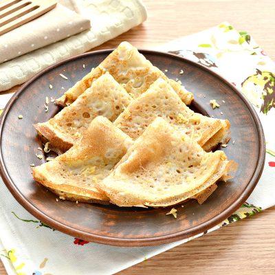 Налистники с сыром (блины на молоке и воде) - рецепт с фото