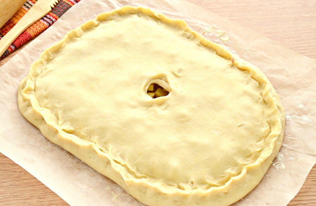 Фото рецепта - Пирог из песочного теста с картошкой и говядиной - шаг 8