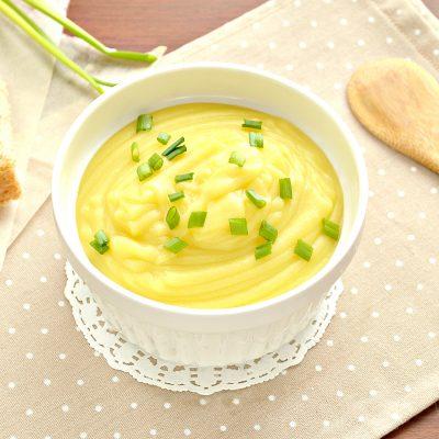 Картофельное пюре с чесноком в блендере - рецепт с фото