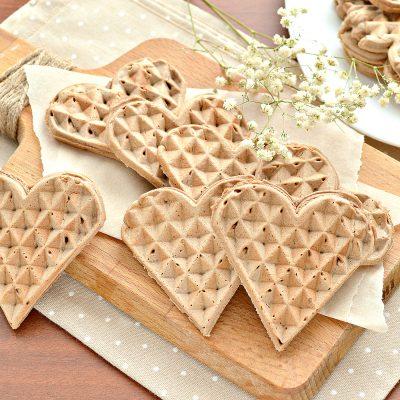 Домашние вафли на сливочном масле (с какао-порошком) - рецепт с фото