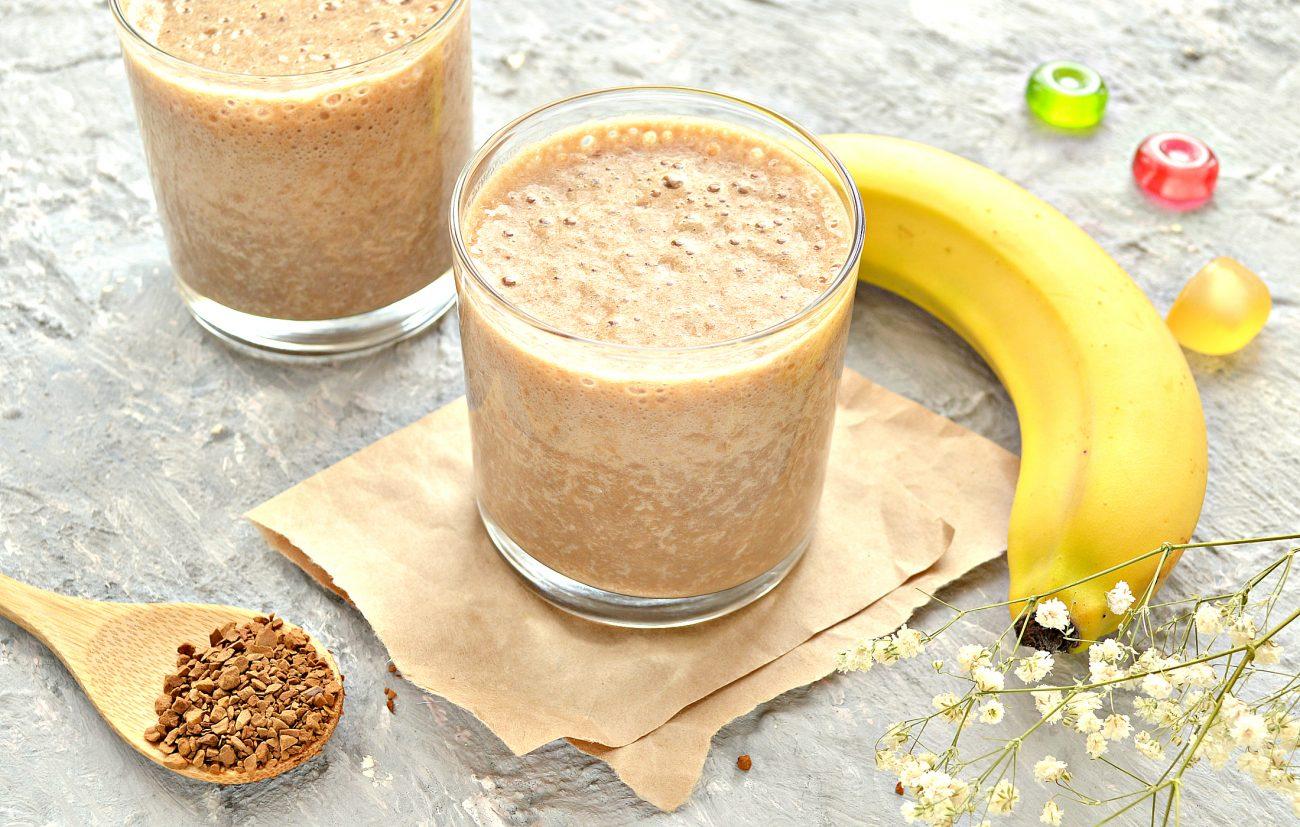 Охлажденный банановый латте