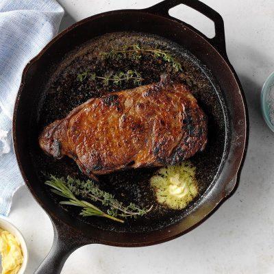 Антрекот жареный на соли - рецепт с фото