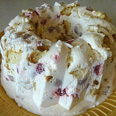 Фруктовый торт-желе без выпечки - рецепт с фото